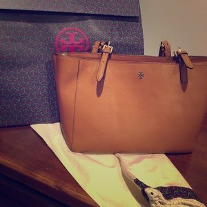 Tory Burch Emerson buckle tote - Camel